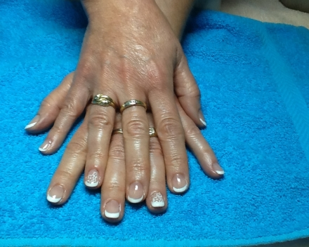 French gelish: bloemstempel art