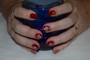 Abstract Gelnagels met Mo you London nailart (foto: A. Devel)